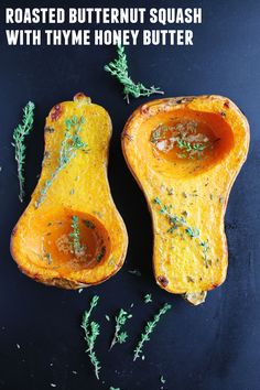 Honey Thyme Roasted Butternut Squash Recipe — Dishmaps
