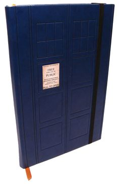 On the outside, a small blue notebook resembling an old-fashioned police box. On the inside, as big as your imagination.