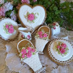 Gingerbread keepsake hearts,  baskets, rounds, mother's day,  spring,  bridal, birthday cookies