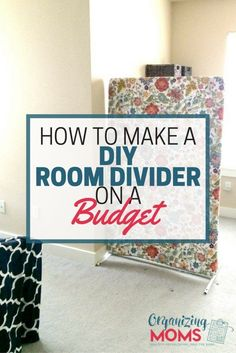 No sewing, no building, no craftiness. How to make a DIY room divider on budget!