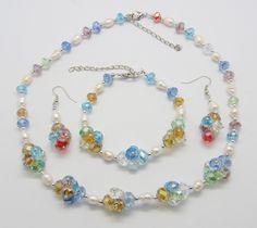 Glass Crystal Jewelry Set
