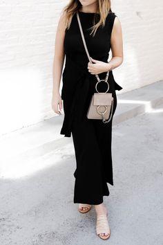 spring slides // mini chloe faye // all black outfit
