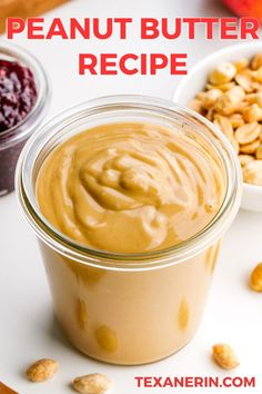Making homemade peanut butter takes only 5 minutes. That's right only 5 minutes. It's just as easy as that! Here is everything you need to know to make peanut butter in your own kitchen. I have even included a how-to video to help you get started! Homemade Nut Butter Recipes, Peanut Butter Recipes, Jam Recipes, Whole Food Recipes, Snack Recipes, Vegan Recipes, Ninja Recipes, Homemade Food, Light Recipes