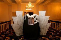 1920s Party Theme | Art Deco Party Props | Roaring Twenties Party Ideas: Art Deco Starburst Prop (Silver Glitter) wedding roaring 20s
