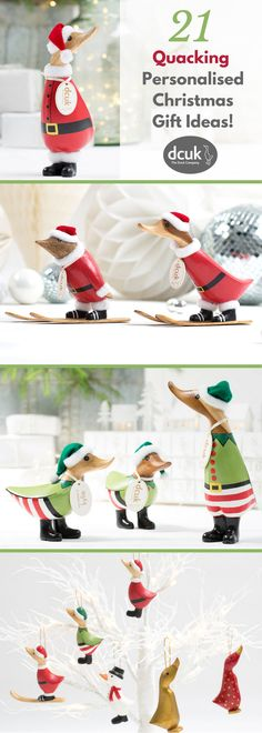 Are you looking for a super cute personalised Christmas gift idea or stocking filler? Take a peek at our collection of hand carved wooden ducks, owls and penguins - all of which can be personalised with the name of your choice!  Explore our full range of Christmas gift ideas at The Duck Company, DCUK