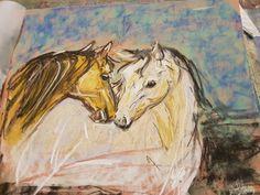 Horse Pastel painting Beginner Painting, Pastel, Horses, Artist, Cake, Artists, Horse, Crayon Art, Melting Crayons