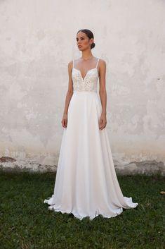 See Daalarna Wedding Dresses From Bridal Fashion Week How To Dress For A Wedding, Boho Wedding Dress, Wedding Dress Styles, Crochet Lace Dress, Floral Lace Dress, Bridal Collection, Dress Collection, Bridal Gowns, Wedding Gowns