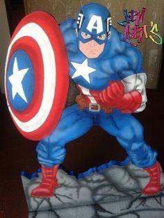 Figura de Capitán América para tu mesa de fantasía,  fiesta infantil #iriarts