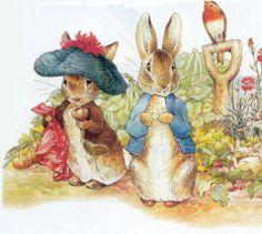 Peter Rabbit and Benjamin Bunny Beatrix Potter Illustrations, Alfabeto Animal, Susan Wheeler, Peter Rabbit Nursery, Beatrice Potter, Peter Rabbit And Friends, Bunny Painting, Benjamin Bunny, Bunny Art