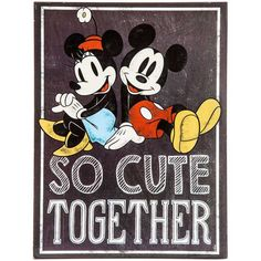 Mickey & Minnie So Cute Together Sign