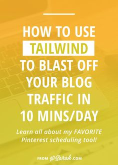 Want to know something crazy...I have 823 pins scheduled right now. I could literally abandon Pinterest for almost FOUR MONTHS and it would keep on going. Click through for a full tutorial, plus my tips + tricks for getting organized and using TailWind grow your blog traffic.