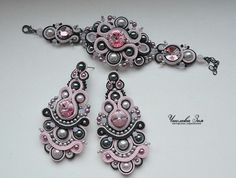 .soutache bracelet and earrings