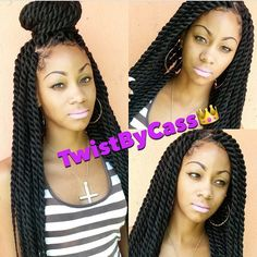 Fun and Beautiful Braided Hairstyles – HerHairdos Black Hair Protective Styles, Medium Hair Styles, Curly Hair Styles, Natural Hair Styles, Medium Twist Braids, Rope Twist Braids, Weave Braid, Black Girls Hairstyles, Twist Hairstyles