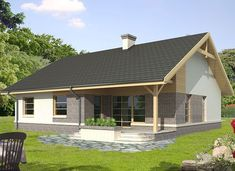 Agis - zdjęcie 1 Compact House, Country House Design, Home Technology, Sims House, Planer, Gazebo, Kitchen Design, House Plans, Shed