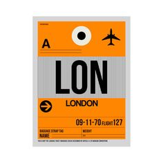LON London Luggage Tag