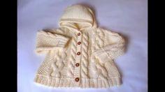 Childrens Hoodie Jacket Cream White Hand knit Sweater Cable knit sweater Merino Wool or Alpaca Wool via Etsy Baby Knitting Patterns, Knitting Designs, Hand Knitting, Hand Knitted Sweaters, Baby Sweaters, Handgestrickte Pullover, Crochet Hooded Scarf, Baby Cardigan, Alpaca Wool