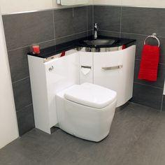 Vega Right Hand Corner Combination Unit Toilet And Black Basin