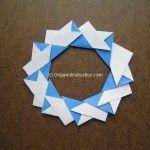 Origami Instruction 8 Units Wreath