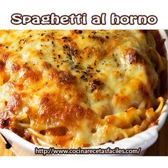 Receta de Spaghetti al horno