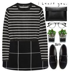 """""""i heart you - Shein #8 - read description"""" by evangeline-lily ❤ liked on Polyvore featuring TIBI, Threshold, women's clothing, women's fashion, women, female, woman, misses, juniors and Sheinside"""