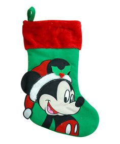 Another great find on #zulily! Mickey Mouse Big Face Christmas Stocking by Mickey Mouse #zulilyfinds