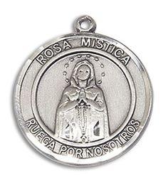 Sterling Silver O/L ROSA MYSTICA Pendant 8413RDSPSS