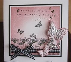 Papermania Urban Stamps Butterfly Card