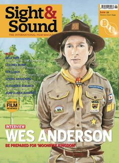 Wes Anderson as boy scout on Sight & Sound film mag's June cover.