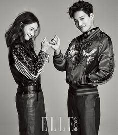 Yoona n kai. my friend who love kai so much hate yoona bcs of thia photoshoot😢😢😢😢
