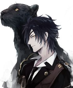 I'm literally just putting this on here because there is a black panther and i love panthers. I need to watch this anime. Pretty panther + Pretty guy = me wanna watch