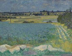 robert a. buhler(1916–89), kale field, beaumont quay, 1950. oil on canvas, 70 x 90.5 cm. arts council collection http://www.bbc.co.uk/arts/yourpaintings/paintings/kale-field-beaumont-quay-63186