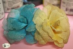 DETAILED Crinoline flower tutorial - much more in depth than the other one - by Tammy Tutterow - #crinoline #flower #making #tutorial #DIY #crafts - tå√