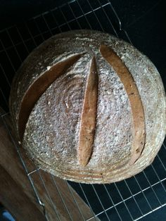 Gorgeous all wheat sourdough bread with chia seeds
