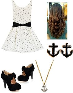 """Anchor outfit"" by livelovelaughpeaceout ❤ liked on Polyvore"