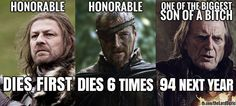 Being honorable seems to get you killed more often than not in #GameOfThrones #asoiaf