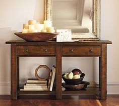 Benchwright Console Table #potterybarn for entryway
