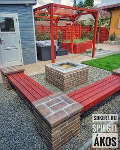 * Csináld magad kertépítés *: Kertépítés ötletek Valley View, Outdoor Furniture Sets, Outdoor Decor, Backyard Patio, Amazing Gardens, Pergola, Sweet Home, Outdoor Structures, House