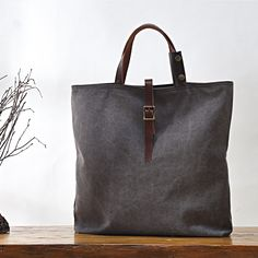 Handmade Canvas Tote Bag Handbag for Women Messenger Bag in Brown 14099