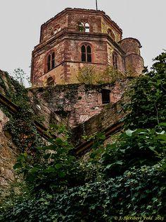 The Heidelberg Castle ruins in Heidelburg, Germany.