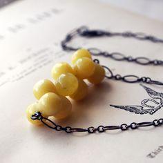 handmade yellow opal necklace - Rachel Lucie Jewellery