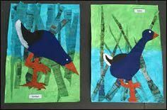 Art Projects, Projects To Try, Art School, New Zealand, Art For Kids, Moose Art, Arts And Crafts, Birds, Teaching