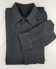 BROOKS BROTHERS Dark Gray 100% Thick Cotton Shirt EUC Woven in Italy Size Large | Clothing, Shoes & Accessories, Men's Clothing, Dress Shirts | eBay!