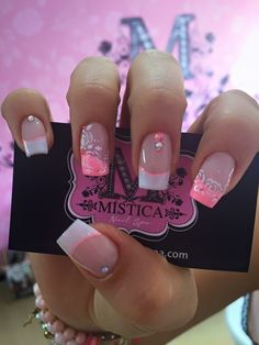 nails, You can collect images you discovered organize them, add your own ideas to your collections and share with other people. Love Nails, Pink Nails, Pretty Nails, Gel Nails, Finger, French Tip Nails, Bridal Nails, Super Nails, Birthday Nails