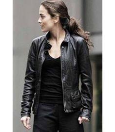 $174.99 Black Anna Alice Braga Jacket for sale I Am Legend Black Leather Jacket free shipping UK USA and Canada low price buy now #annaalice #braga #iamlegend #black #leatherjacket #design #fashion #women