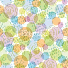 Seamless pattern abstract background circles and drops vector Royalty Free Stock Vector Art Illustration