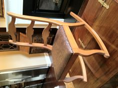 Rocking chair restored for Free for the winner of my Facebook Contest.  See more of my work at www.brendancarpenter.com