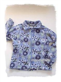 Girls Columbia Fleece Jacket Full Zip Purple Lavender Floral Youth Size 10 12 #Columbia #FleeceJacket #Everyday