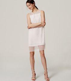 Primary Image of Petite Lace Trim Dress