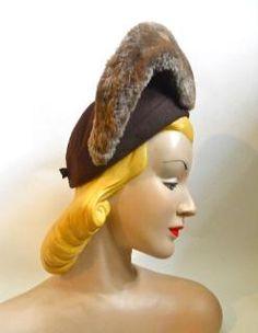 vintage hat 40s hat
