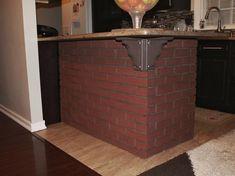 Contempo Brick Wall Panel - Barron Designs Wood Ceiling Panels, Brick Wall Paneling, Brick Accent Walls, Wood Ceilings, Faux Wood Beams, Timber Beams, Brick And Wood, Brick Masonry, Brick Facade